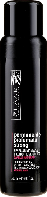Parfümierte Dauerwelle-Lotion ohne Ammoniak für gefärbtes Haar Strong - Black Professional Line