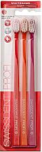 Düfte, Parfümerie und Kosmetik Zahnbürste weich Profi Whitening orange, rot, pink 3 St. - Swissdent Profi Whitening Soft Trio