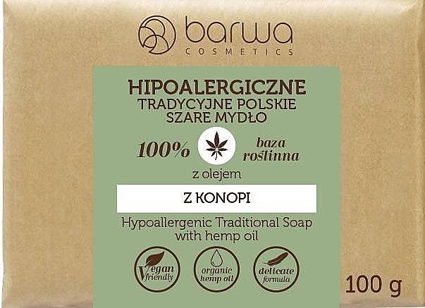 Traditionelle Seife mit Hanföl - Barwa Hypoallergenic Traditional Soap With Hemp Oil
