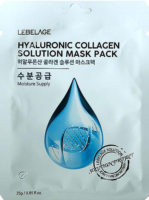 Feuchtigkeitsspendende Tuchmaske für das Gesicht mit Hylauronsäure und Kollagen - Lebelage Hyaluronic Collagen Solution Mask
