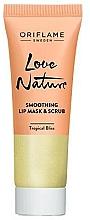 Düfte, Parfümerie und Kosmetik 2in1 Glättendes Lippenmaske-Peeling mit Minze und Limette - Oriflame Love Nature Smoothing Lip Mask & Scrub