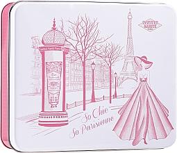 Düfte, Parfümerie und Kosmetik Körperpflegeset - Institut Karite Rose Mademoiselle (Seife 100g + Handcreme 30ml + Sheabutter mit Rosenduft 10ml + Kerze 1 St. + Konfetti + Box)