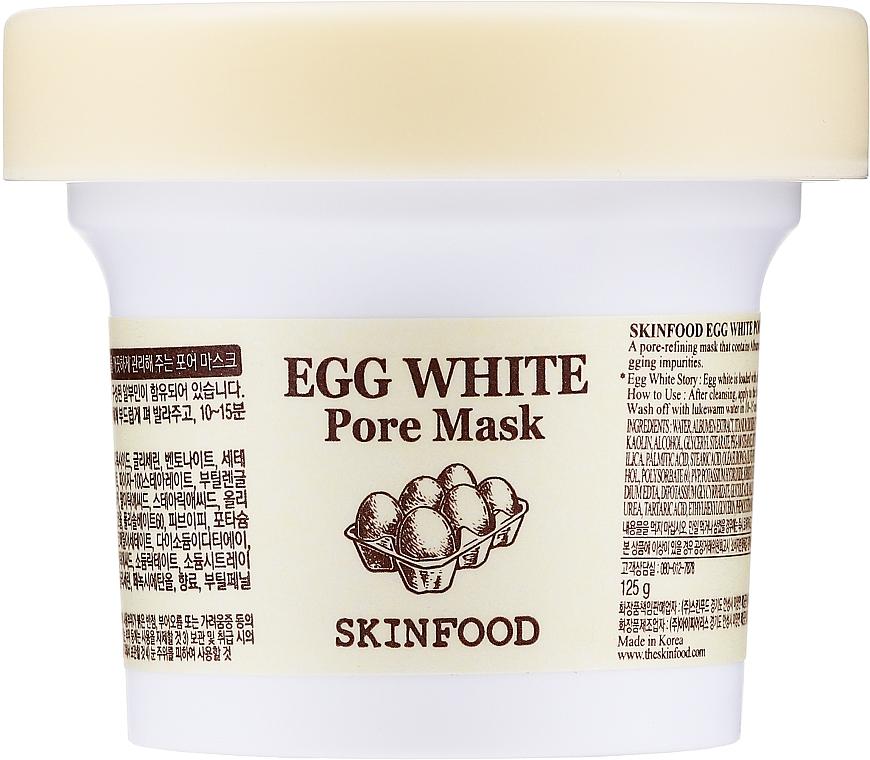 Reinigende Gesichtsmaske zur Porenverengung mit Eiweiß - Skinfood Egg White Pore Mask