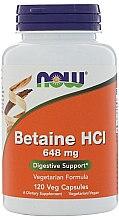 Düfte, Parfümerie und Kosmetik Nahrungsergänzungsmittel Betain Hydrochlorid 648 mg 120 Kapseln - Now Foods Betaine HCl