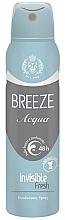 Düfte, Parfümerie und Kosmetik Deospray - Breeze Acqua Invisible Fresh Deodorante Spray 48H