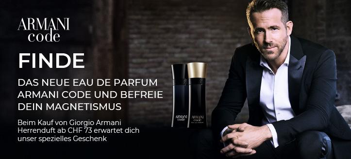 Beim Kauf von Giorgio Armani Herrenduft ab CHF 73 bekommst du das Mini Eau de Parfum Because It's You geschenkt