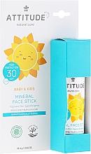Düfte, Parfümerie und Kosmetik Sonnenschutzstick für das Gesicht SPF 30 - Attitude Mineral Face Stick SPF 30