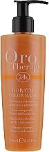 Düfte, Parfümerie und Kosmetik Farbauffrischende und feuchtigkeitsspendende Pflegemaske mit mikroaktivem Gold, Keratin und Arganöl für glänzendes Haar  - Fanola Oro Therapy Colouring Mask