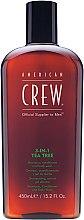 Düfte, Parfümerie und Kosmetik 3in1 Shampoo, Conditioner und Duschgel Teebaum - American Crew Tea Tree 3-in-1 Shampoo, Conditioner and Body Wash