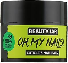 Düfte, Parfümerie und Kosmetik Nagel- und Nagelhautbalsam mit Zitronenöl, Kakaobutter und Mandelöl - Beauty Jar Cuticle&Nail Balm