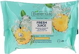 Düfte, Parfümerie und Kosmetik Feuchttücher zum Abschminken mit Zitruswasser und Ananas - Bielenda Fresh Juice Micelar Care Make-up Removing Wipes