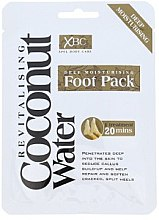 Düfte, Parfümerie und Kosmetik Reparierende Fußmaske in Socken - Xpel Marketing Ltd Coconut Water Foot Pack