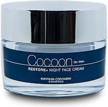 Düfte, Parfümerie und Kosmetik Gesichtscreme für Männer mit Rohkaffeeextrakt und süßem Mandelöl - Fontana Contarini Cocoon Restore+ Night Face Cream