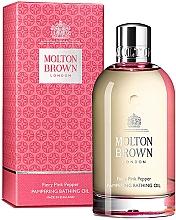 Düfte, Parfümerie und Kosmetik Molton Brown Fiery Pink Pepper Pampering Bathing Oil - Belebendes Badeöl mit rosa Pfefferduft