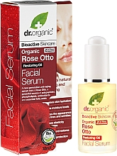 Düfte, Parfümerie und Kosmetik Anti-Aging Gesichtsserum mit Rose - Dr. Organic Rose Facial Serum