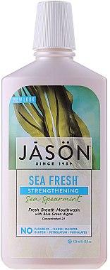 Pflegendes Mundwasser mit grüner Minze - Jason Natural Cosmetics Sea Fresh Strengthening