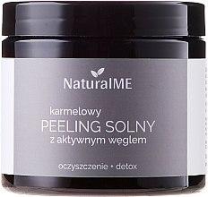 Düfte, Parfümerie und Kosmetik Reinigendes und entgiftendes Karamell-Peeling für den Körper mit Aktivkohle - NaturalME