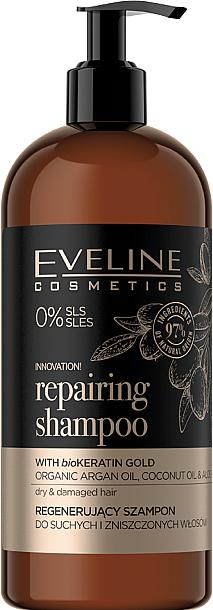 Regenerierendes Shampoo für trockenes und strapaziertes Haar - Eveline Cosmetics Organic Gold Regenerating Shampoo For Dry And Damaged Hair