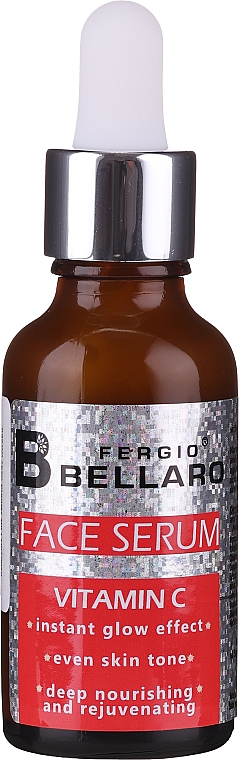 Pflegendes und verjüngendes Gesichtsserum mit Glanz-Effekt und Vitamin C - Fergio Bellaro Face Serum Vitamin C