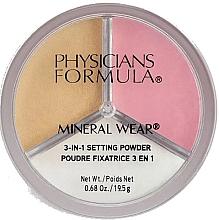 Düfte, Parfümerie und Kosmetik 3in1 Fixierender Puder für das Gesicht - Physicians Formula Mineral Wear 3-In-1 Setting Powder