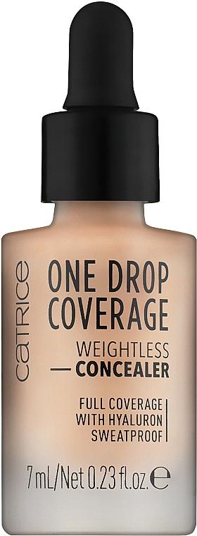 Langanhaltender und feuchtigkeitsspendender Gesichts-Concealer - Catrice One Drop Coverage Weightless Concealer