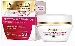 Düfte, Parfümerie und Kosmetik Verjüngende und feuchtigkeitsspendende Gesichtscreme mit Peptiden und Ceramiden 50+ - Perfecta Peptydy&Ceramidy