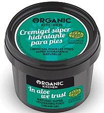 Düfte, Parfümerie und Kosmetik Feuchtigkeitsspendendes Creme-Gel für die Fußpflege mit Aloe Vera - Organic Shop Organic Kitchen Foot Cream-Gel