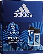 Düfte, Parfümerie und Kosmetik Adidas UEFA Dare Edition - Körperpflegeset (2in1 Shampoo und Duschgel 250ml + Parfümiertes Körperspray 75ml)