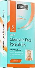 Düfte, Parfümerie und Kosmetik Porenverfeinernde Mitesser-Pflaster für Gesicht mit Hasselnuss Extrakt - Beauty Formulas Deep Cleansing Face Pore Strips