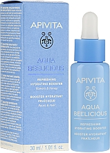 Düfte, Parfümerie und Kosmetik Erfrischender und feuchtigkeitsspendender Gesichtsbooster - Apivita Aqua Beelicious Refreshing Hydrating Booster With Flowers