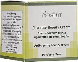 Düfte, Parfümerie und Kosmetik Anti-Aging Gesichtscreme mit Aloe Vera und Jojoba-Extrakt - Sostar Jasmine Anti-Aging Beauty Cream