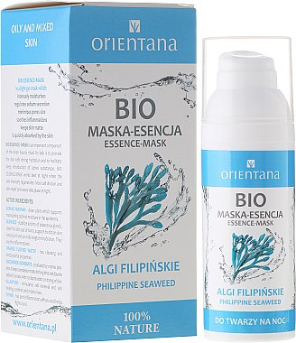 Essentielle Gesichtsmaske mit philippinischen Algen - Orientana Bio Essence-Mask Philippine Seaweed