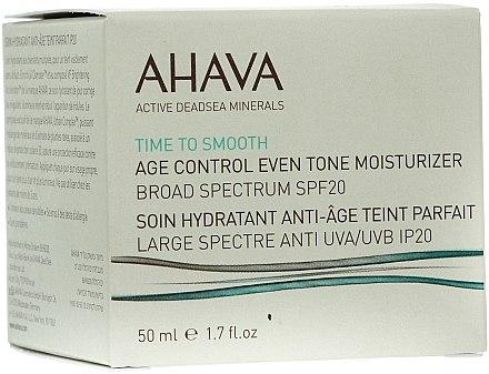 Feuchtigkeitsspendende und ausgleichende Anti-Aging Gesichtscreme SPF 20 - Ahava Age Control Even Tone Moisturizer Broad — Bild N1