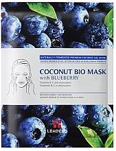 Düfte, Parfümerie und Kosmetik Energetisierende und feuchtigkeitsspendende Tuchmaske mit Heidelbeeren - Leader Coconut Bio Mask With Blueberry
