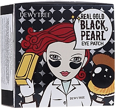 Düfte, Parfümerie und Kosmetik Augenpatches mit Gold und schwarzen Perlen - Dewytree Real Gold Black Pearls Eye Patch