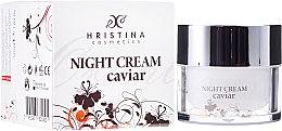 Düfte, Parfümerie und Kosmetik Straffende Nachtcreme für Gesicht mit Kaviar - Hristina Cosmetics Orient Caviar Night Cream