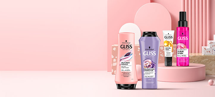 25% Rabatt auf die ausgewählte Gliss Haarpflegeserie. Die Preise auf der Website sind inklusive Rabatt