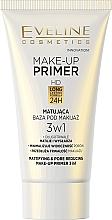 Düfte, Parfümerie und Kosmetik Mattierender Make-up Primer - Eveline Cosmetics Make-up Primer 3v1
