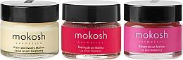 Düfte, Parfümerie und Kosmetik Gesichtspflegeset - Mokosh Cosmetics Raspberry (Gesichtscreme 15ml + Lippenbalsam 15ml + Lippenpeeling 15ml)