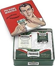 """Düfte, Parfümerie und Kosmetik Set - Proraso Classic Shaving Metal Green """"Gino"""" (pre/cr/100ml + sh/cr/150ml + a/sh/cr/100ml)"""