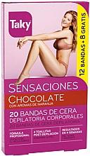 Düfte, Parfümerie und Kosmetik Enthaarungswachssteifen für den Körper mit Schokoladenduft - Taky Chocolate Body Wax Strips With Orange Fragrance Box