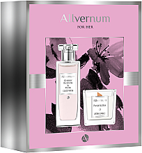 Düfte, Parfümerie und Kosmetik Allvernum Cherry Blossom & Musk - Duftset (Eau de Parfum 50ml + Duftkerze 100g)