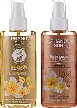 Düfte, Parfümerie und Kosmetik Körperpflegeset - Alphanova Sun (Trockenes Körperöl-Spray 125ml + Trockenes Körperöl-Spray mit Schimmer 125ml)