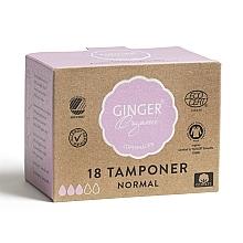 Düfte, Parfümerie und Kosmetik Tampons ohne Applikator Normal 18 St. - Ginger Organic