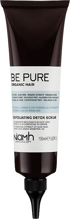 Detox-Kopfhautpeeling mit Aloe Vera und Karotten- und Zitronenöl - Niamh Hairconcept Be Pure Detox Scrub — Bild N1