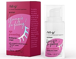 Düfte, Parfümerie und Kosmetik Straffende Augencreme für reife Haut mit Hyaluronsäure und Vitamin E - Kili·g Woman Age Preventing Eye Cream