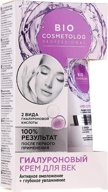 Augenkonturcreme mit Hyaluronsäure - Fito Kosmetik BioCosmetolog Prof
