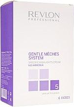 Düfte, Parfümerie und Kosmetik Set Strähnencreme ohne Ammoniak(3x60ml) + Booster(6x50g) - Revlon Professional Gentle Meches System
