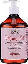 Düfte, Parfümerie und Kosmetik Entspannendes Massageöl mit Sesamöl - Eco U Massage Oil Sesame Oil