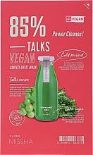 Düfte, Parfümerie und Kosmetik Reinigende Tuchmaske mit Traubenfruchtextrakt und Grünkohl - Missha Talks Vegan Squeeze Sheet Mask Power Cleanse
